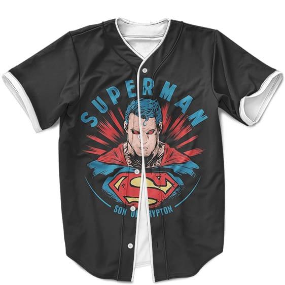 DC Comics Superman Son Of Krypton Black Baseball Jersey