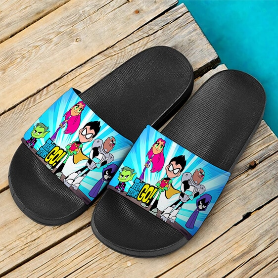 DC Comics Teen Titans Go Series Awesome Slide Sandals