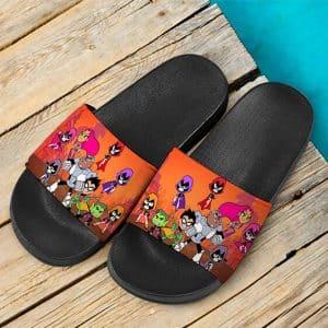 DC Comics Teen Titans Go Young Heroes Stylish Slide Sandals
