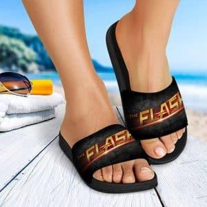 DC Comics The Flash Realistic Logo Slide Sandals