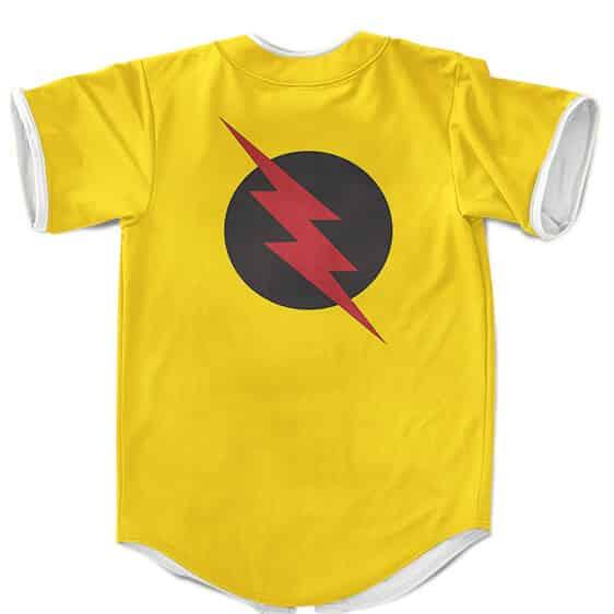 DC Comics Villain Reverse-Flash Emblem Yellow Baseball Shirt