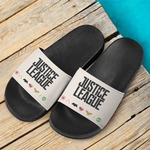DC Justice League Founding Members Logo Stylish Slides