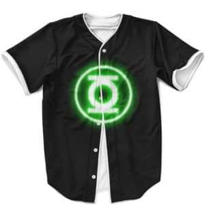 DC Justice League Green Lantern Minimalist Black MLB Jersey
