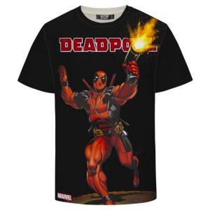 Deadpool Marvel Wade Wilson Amazing Black T-shirt