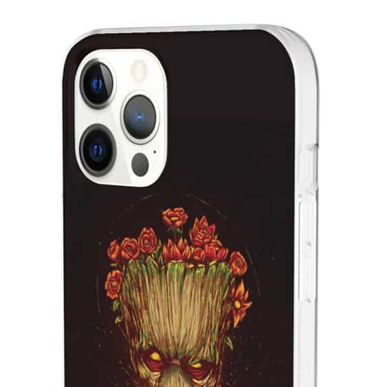 Full Grown Groot Flora Colossus Black iPhone 12 Fitted Case