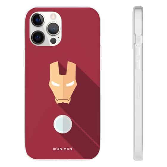 Iron Man Armor Flat Design Red iPhone 12 Fitted Cover