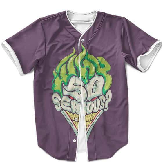 Joker Why So Serious Dope Artwork Purple Baseball Uniform