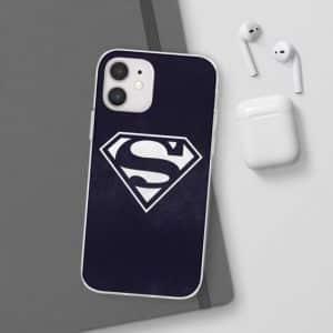 Justice League Superman Logo Navy Blue iPhone 12 Case