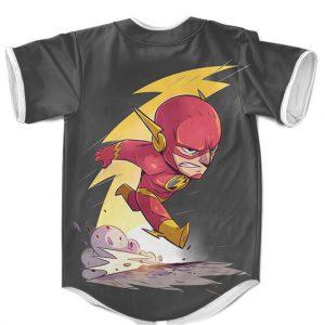 Justice League The Flash Chibi Design Gray Baseball Shirt