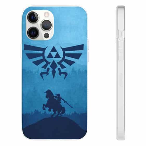 Legend of Zelda Link Blue Silhouette iPhone 12 Cover