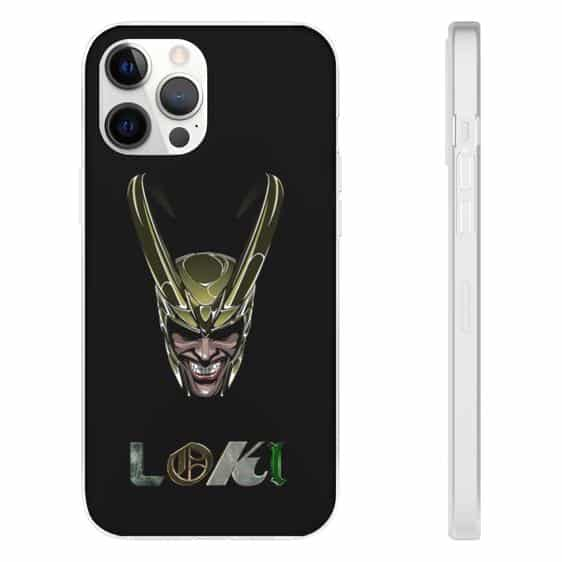 Loki God of Mischief Head Art Black iPhone 12 Cover