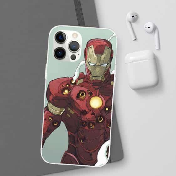 MCU Iron Man Comics Gunshot Bruised Armor iPhone 12 Cover