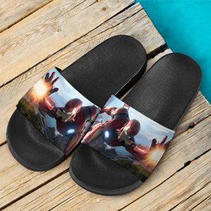 Marvel Avengers Flying Iron Man Awesome Slide Sandals