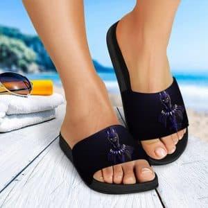 Marvel Black Panther Vibranium Suit Badass Slide Sandals