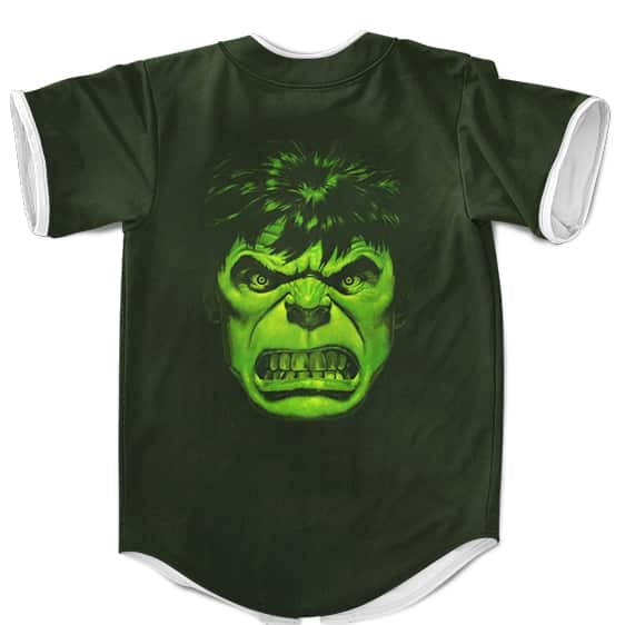 Marvel Bruce Banners The Hulk Badass Green Baseball Jersey