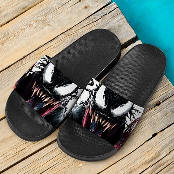 Marvel Comics Badass Venom Symbiote Painting Slide Sandals
