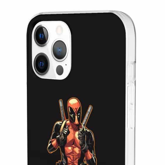 Marvel Comics Deadpool Anti-Hero Black iPhone 12 Case
