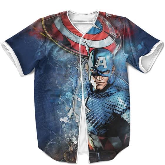 Marvel Comics First Avenger Captain America Badass MLB Shirt