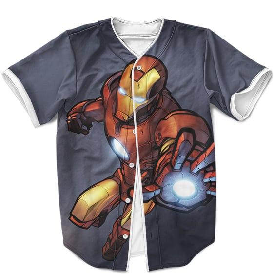 Marvel Comics Iron Man Repulsor Attack Cool Baseball Jersey