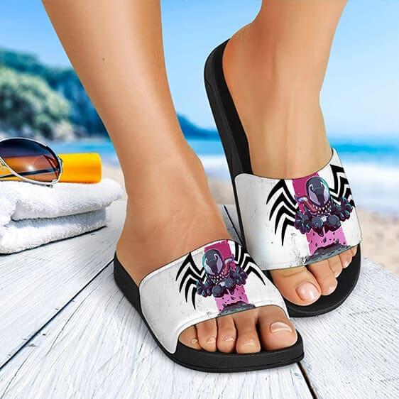 Marvel Comics Mad Venom Chibi Artwork Amazing Slide Sandals