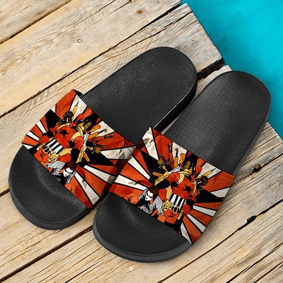 Marvel Comics Mercenary Deadpool Vintage Look Slide Sandals