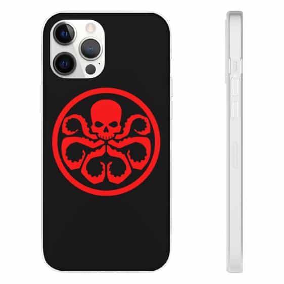 Marvel Comics Red Skull Hydra Logo Black iPhone 12 Cover