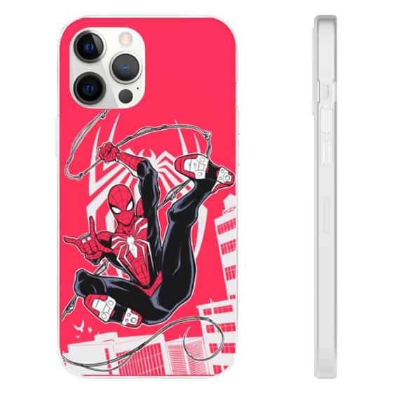Marvel Comics Spider-Man Red iPhone 12 Fitted Cover