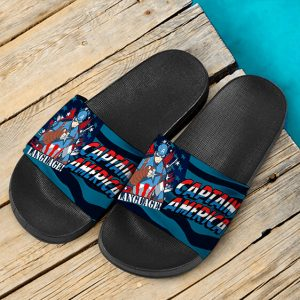 Marvel Comics Super Soldier Captain America Slide Sandals