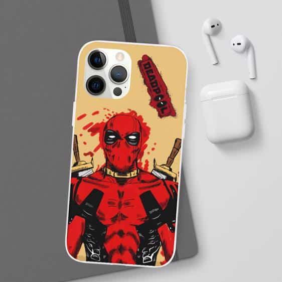 Marvel Comics Superhero Deadpool Yellow iPhone 12 Cover