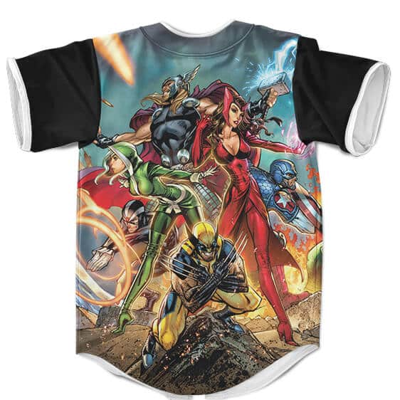 Marvel Comics Superheroes Art Stylish Baseball Shirt