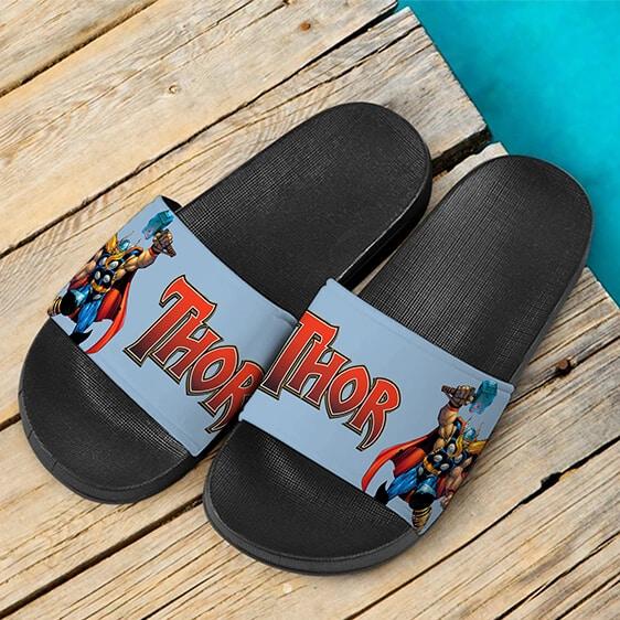 Marvel Comics Thor God Of Thunder Stylish Slide Sandals