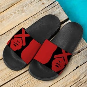 Marvel Comics X-Men Cyclops Silhouette Red Slide Sandals