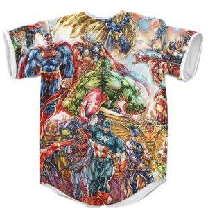 Marvel & DC Comics Superhero Crossover Awesome MLB Jersey