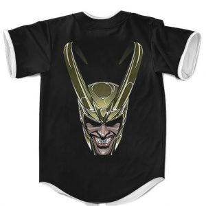 Marvel Loki God Of Mischief Minimalist Art Black MLB Jersey