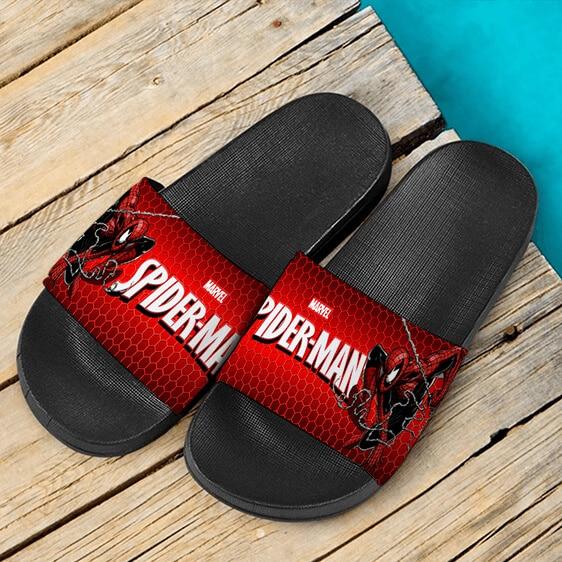 Marvel Spider-Man Web Swinging Amazing Red Slide Sandals