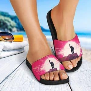 Marvel Thanos Wearing Infinity Gauntlet Epic Slide Sandals