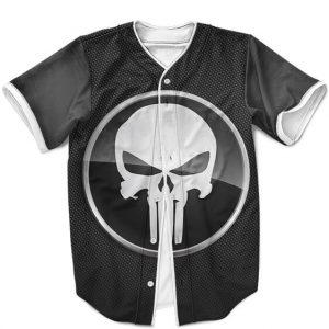 Marvel The Punisher Skull Icon Dope Gray Baseball Uniform