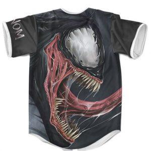 Marvel Venom Symbiote Scary Carnage Black Baseball Jersey