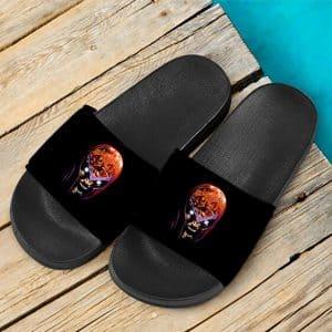 Marvel X-Men Magneto Screaming Epic Black Slide Sandals