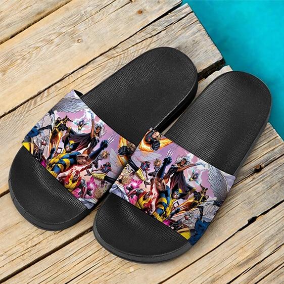 Marvel X-Men Mutant Heroes Assemble Amazing Slide Sandals