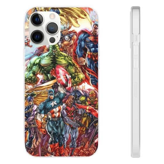 Marvel and DC Superheroes Crossover Artwork iPhone 12 Case