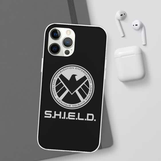 Marvel's Eagle S.H.I.E.L.D Logo Black iPhone 12 Case