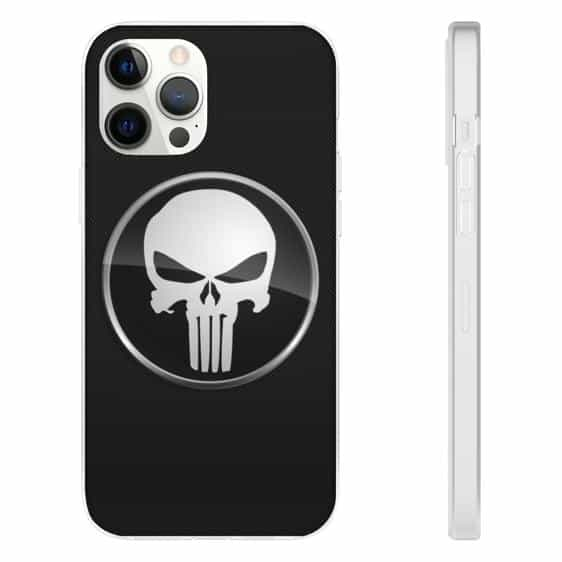 Marvel's The Punisher Logo Black iPhone 12 Fitted Case
