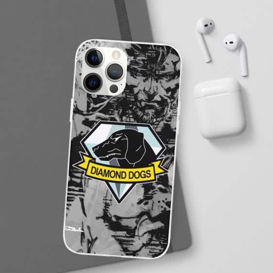 Metal Gear Diamond Dogs Logo Monochrome iPhone 12 Cover