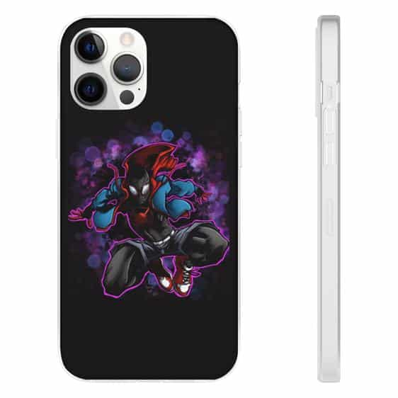 Miles Morales Into the Spider-Verse Black iPhone 12 Cover