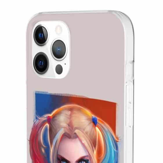Sexy Harley Quinn Blue And Red Vibrant iPhone 12 Cover