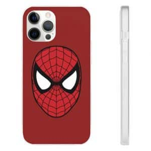 Spider-Man Minimalist Red Face Logo iPhone 12 Fitted Case