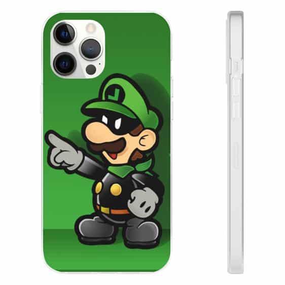Super Mario Twin Brother Luigi Bandit Green iPhone 12 Case