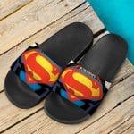 Superman The Man Of Steel Emblem Amazing Slide Sandals