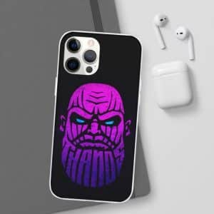 Thanos Genocidal Warlord Purple Face Art iPhone 12 Case